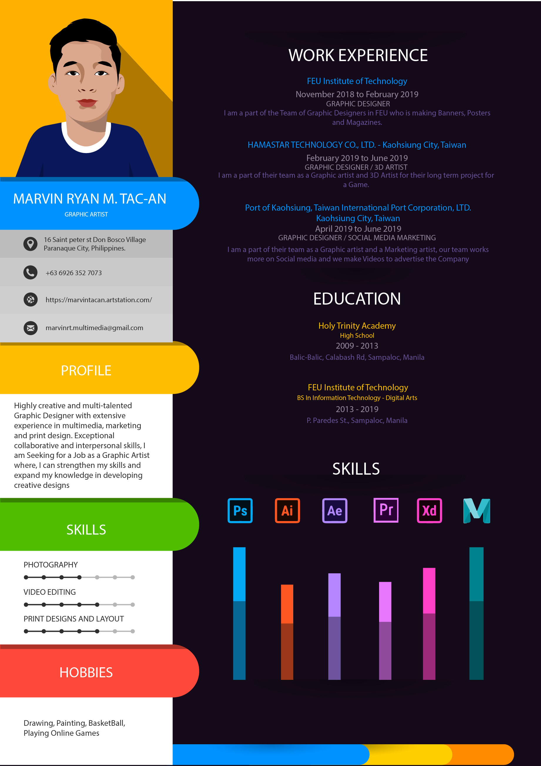 Design A Unique Creative Resume With Vector By Marvsxvi016