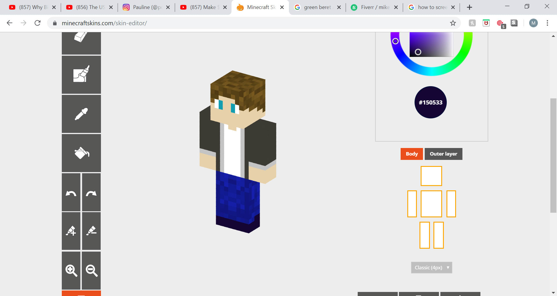 Create and design your dream minecraft skin by Mike9