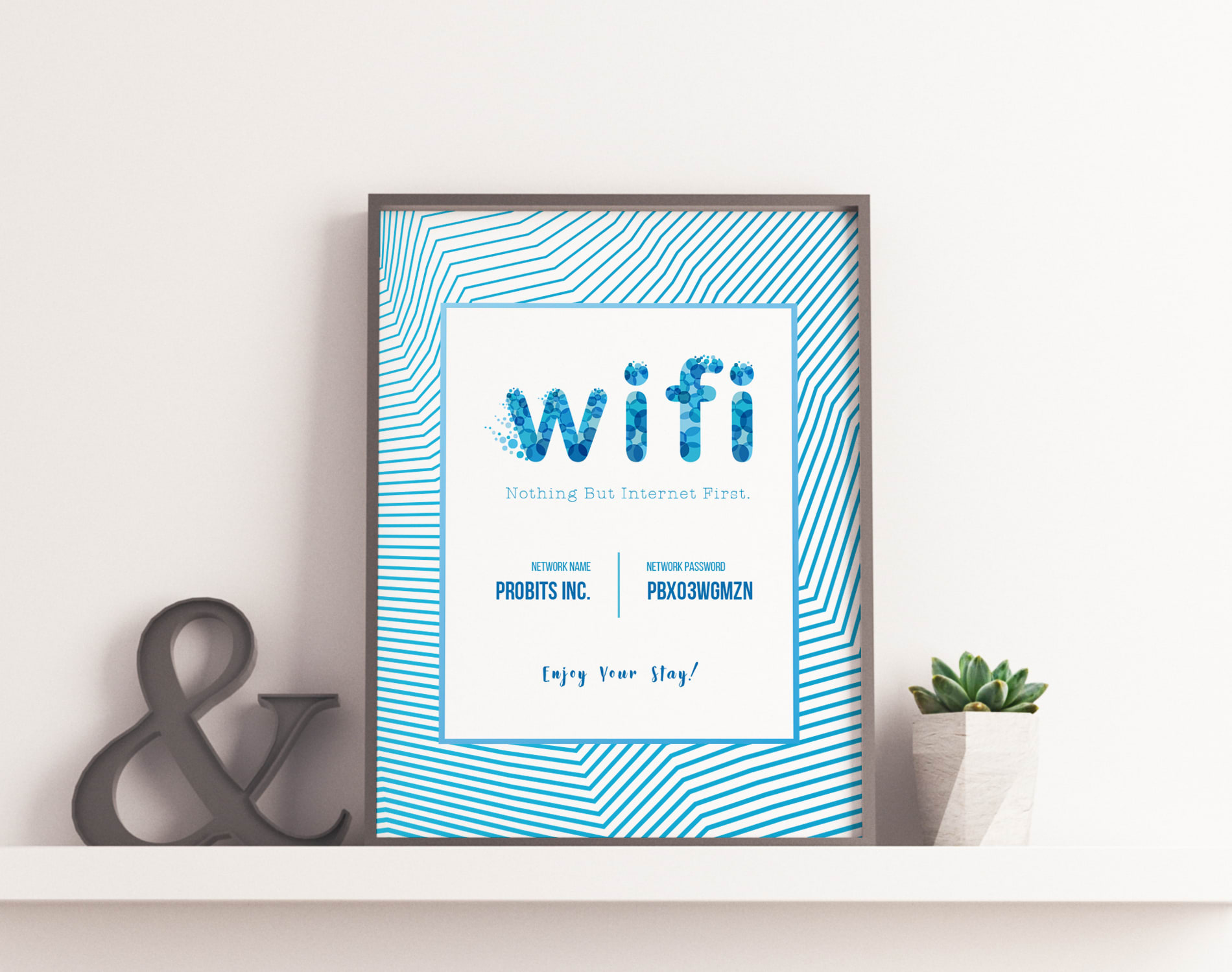 This is a picture of Free Printable Wifi Password Template for be our guest