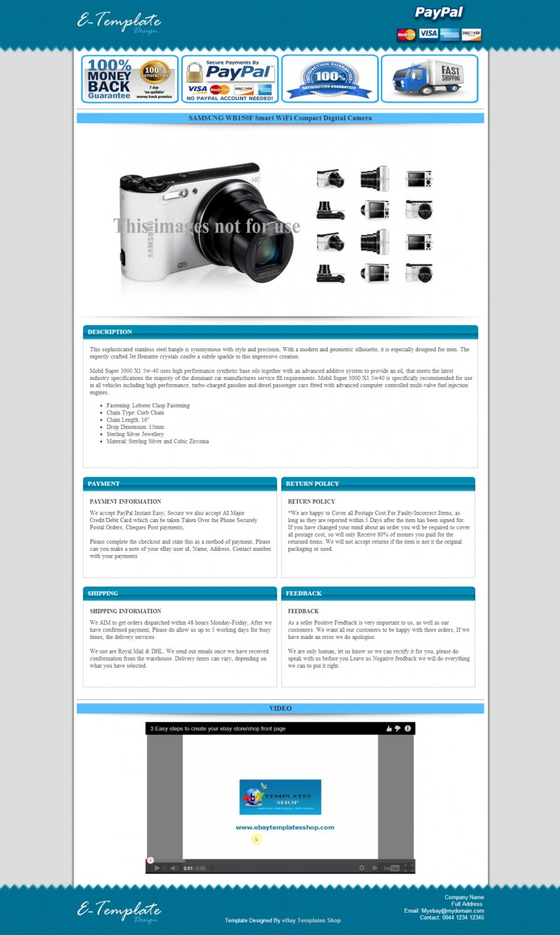 Design Professional Ebay Responsive Auction Listing Template By Tawfiq366