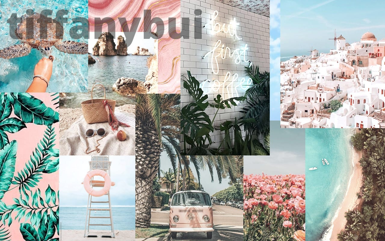 Custom Laptop Desktop Aesthetic Collage Wallpaper Background By Tiffanybui