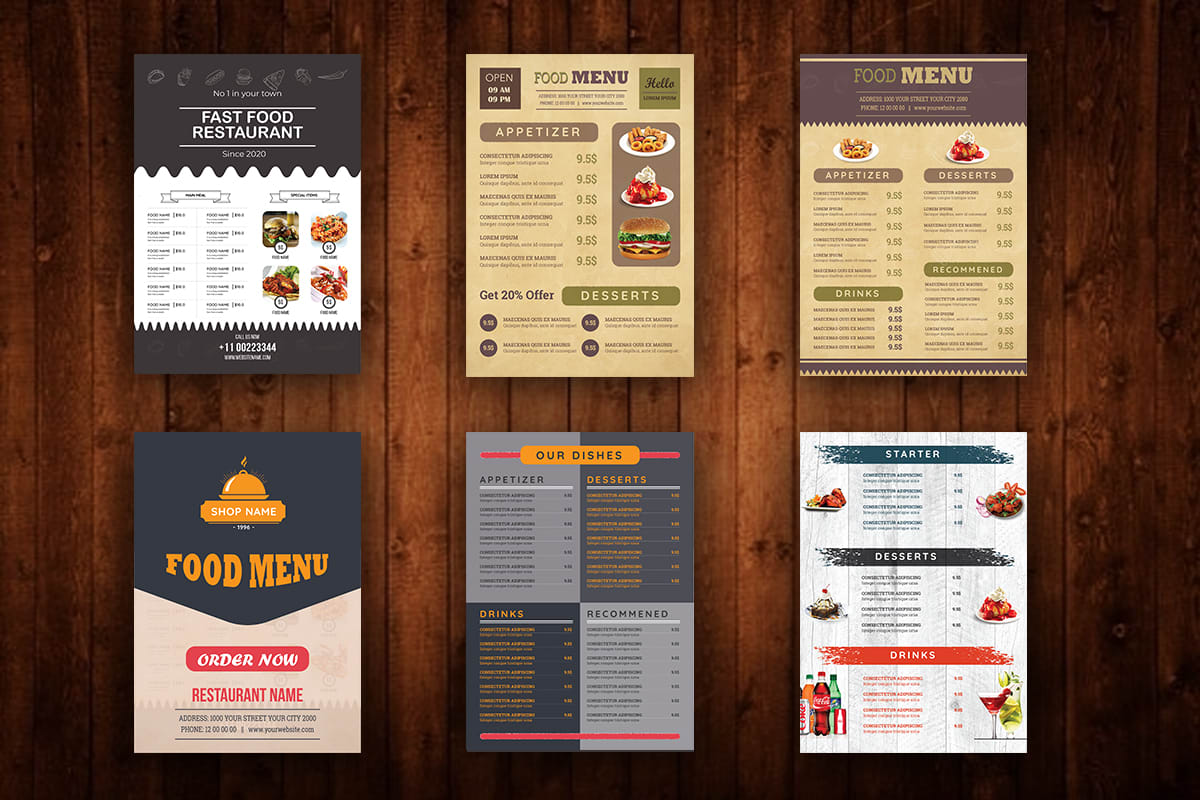 Design Modern Classic Vintage Minimal Restaurant Food Menu By Alam0784