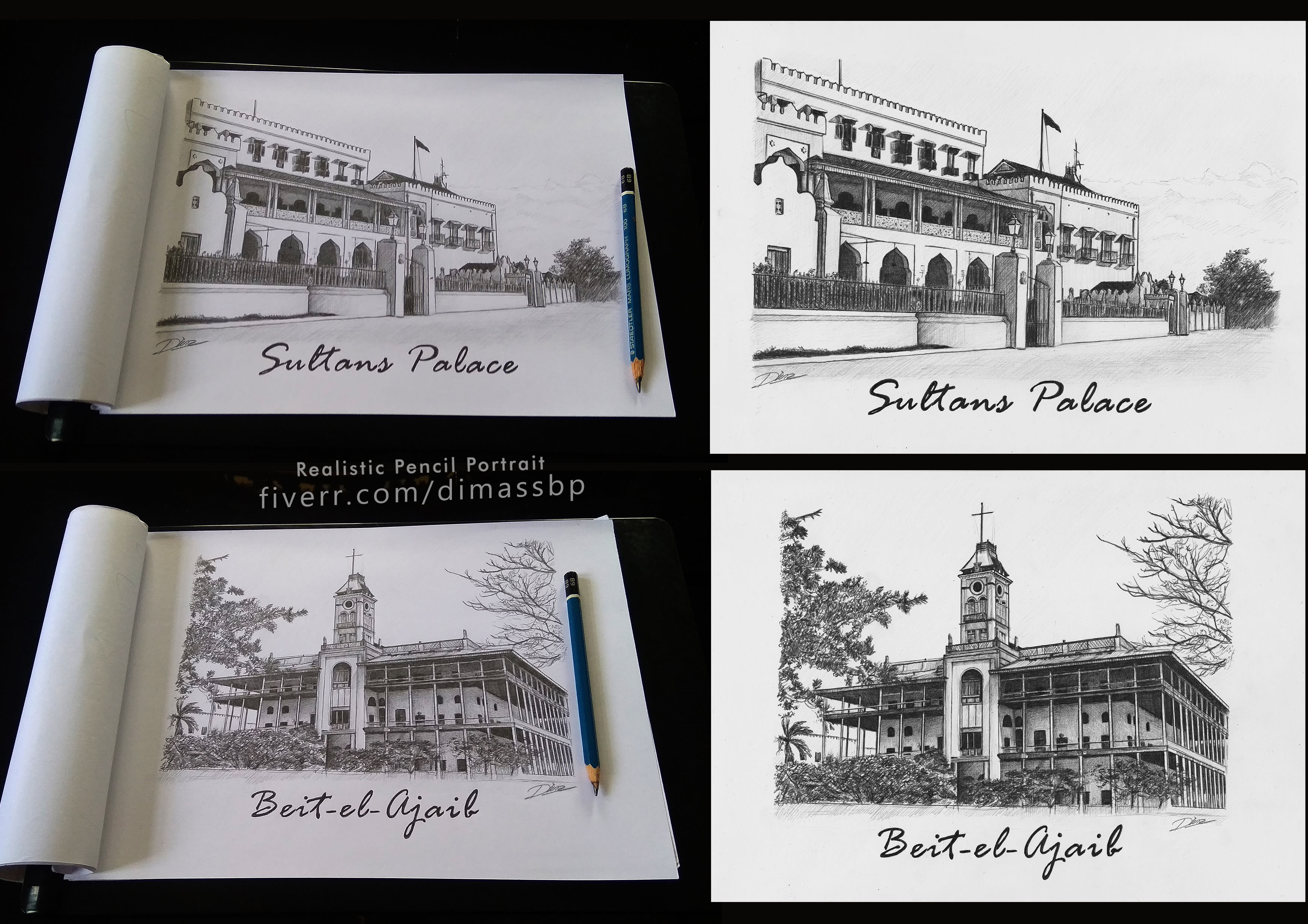 Draw Pencil Sketch Landscape Building Or Scenery With My Style By Dimassbp