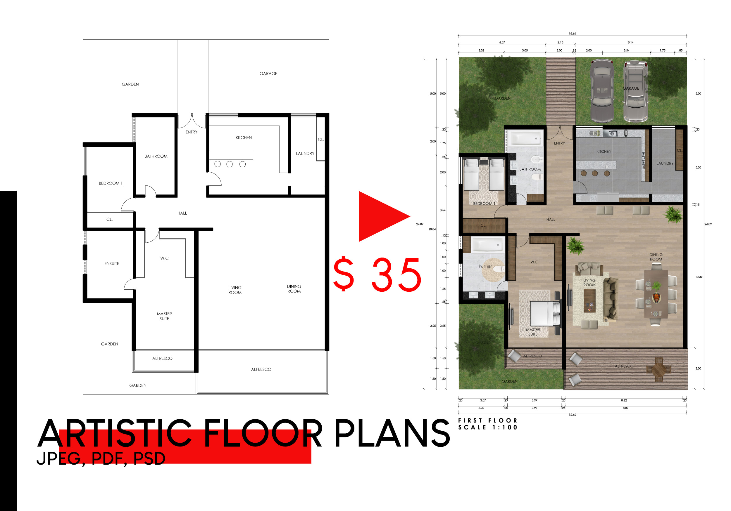 Draw Artistic Floor Plans For Real Estate Agent By Flavianeyra Fiverr