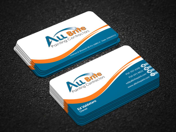 Business Card Design Professional Unique Two Sided