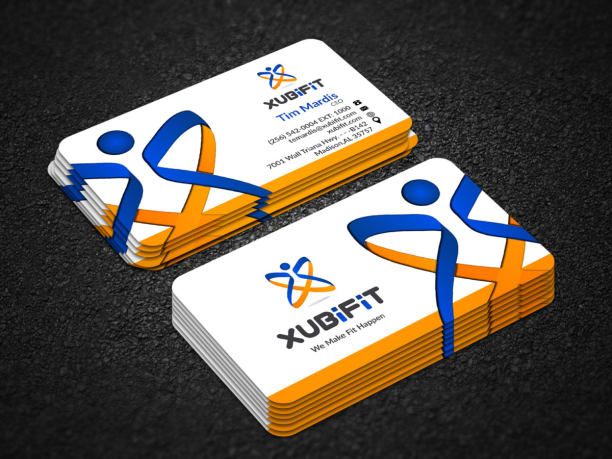 Business card design professional unique two sided reheart Choice Image