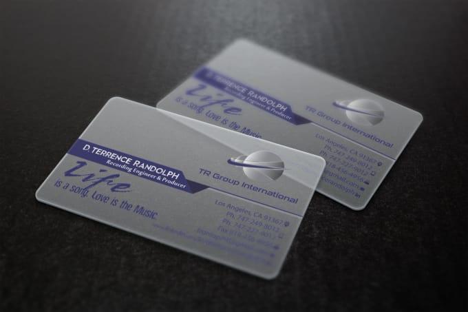 Design Transparent Plastic Business Card By Maskofdesign