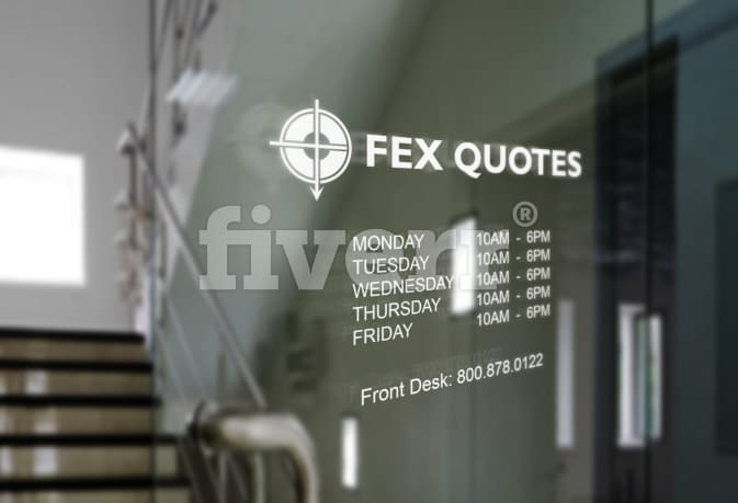 Create An Awesome Glass Door Sign By Animationpro Delectable Fex Quotes