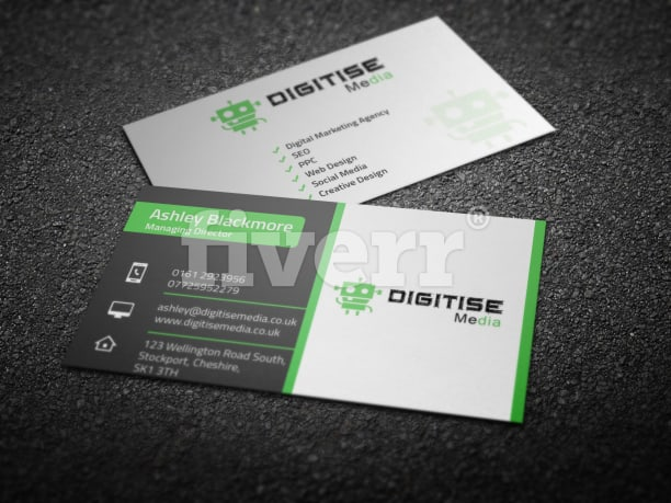 Do outstanding and double sided business card by graphic24online reheart Images