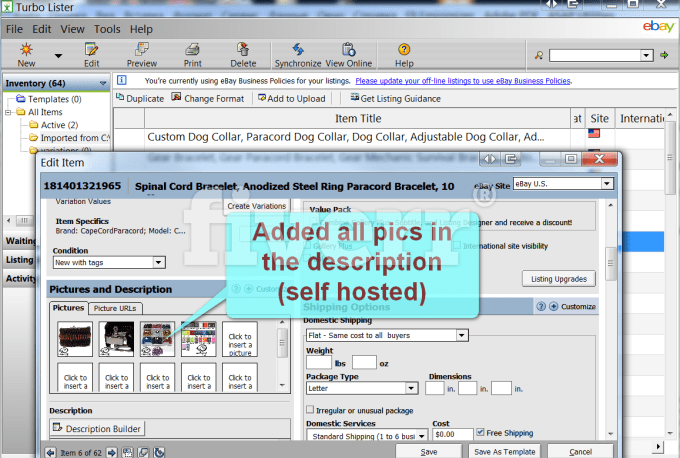 Do csv file 4 amazon or ebay turbolister with pics by ivanessesready maxwellsz