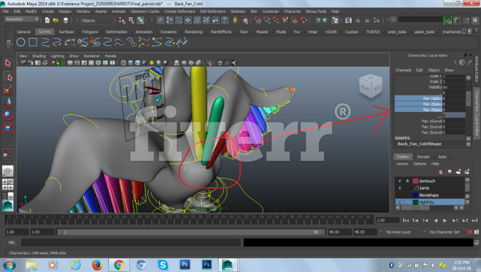 rig your 3d character and object in maya and 3ds max