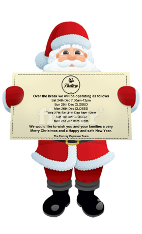 add christmas element to logo on santa claus sign by rushawnh1