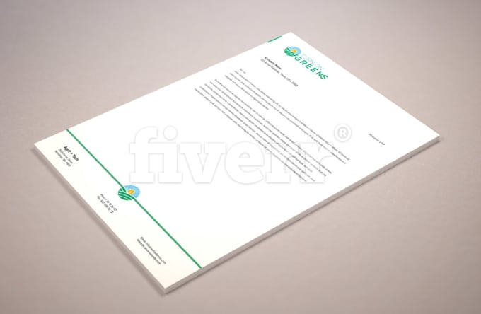 how to create letterhead in ms word