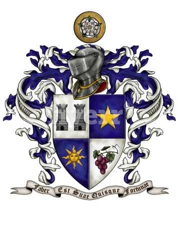 Make Any Heraldic Shield Emblem Or Family Crest By Montecruz