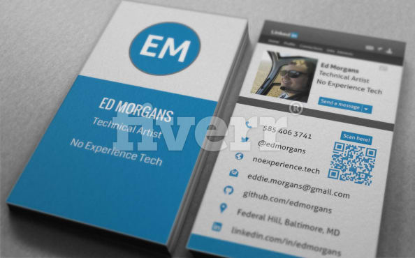 Turn your linkedin into business card by shammad 59 reviews colourmoves Images
