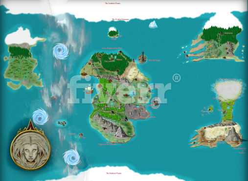 Make A Wonderful Custom Fantasy Map For Your Fictional World By Dhknarr