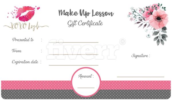 make a gift certificate