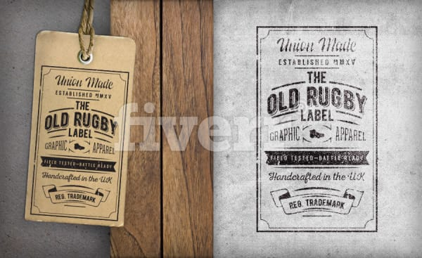 design a vintage hang tag or label by dimosserk