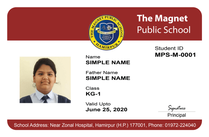 Design Employee Card Id Hours By Do Zara482970 Within Student Or 24