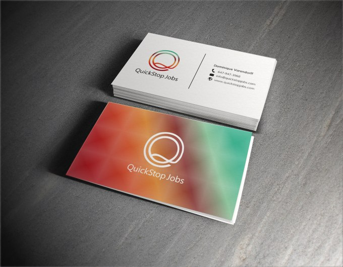 Design a professional double sided business card by Logoxid