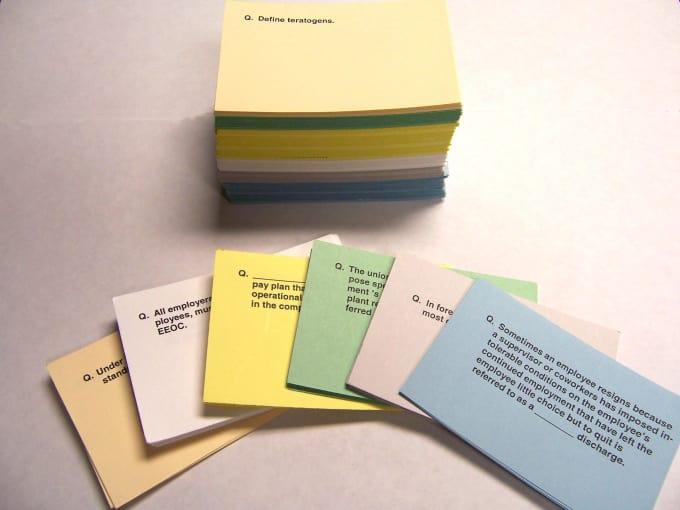 Make printable flashcards in anki or microsoft word by Dolabella