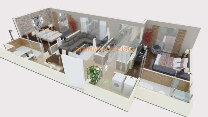 Do all 3d floor plan renderings contact for cost by Reyyaricha