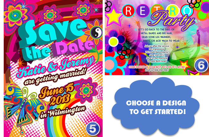 Design a retro revival 80s 70s 60s party invitation by Annaillustrates