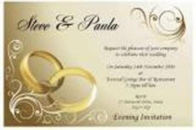 Design a custom wedding invitation card and child dedication by Agamap3