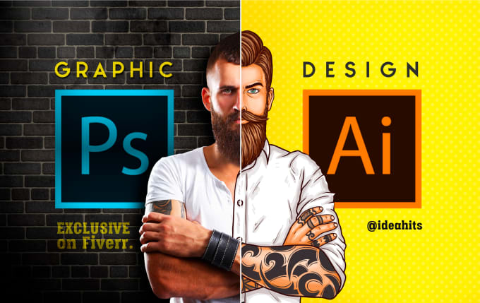 create any kind of graphic design with idea