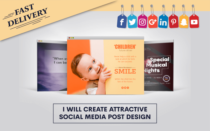 Create 15 Attractive Social Media Posts Design By Omitdatta