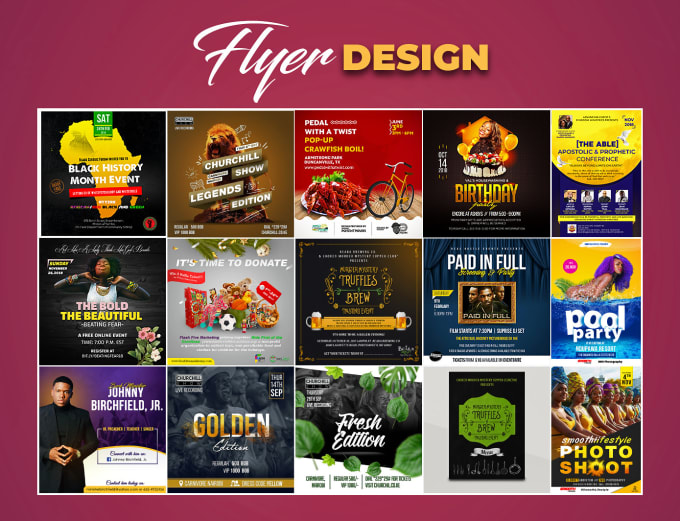 Design Professional Event Flyer, Social Media Flyer, Poster By