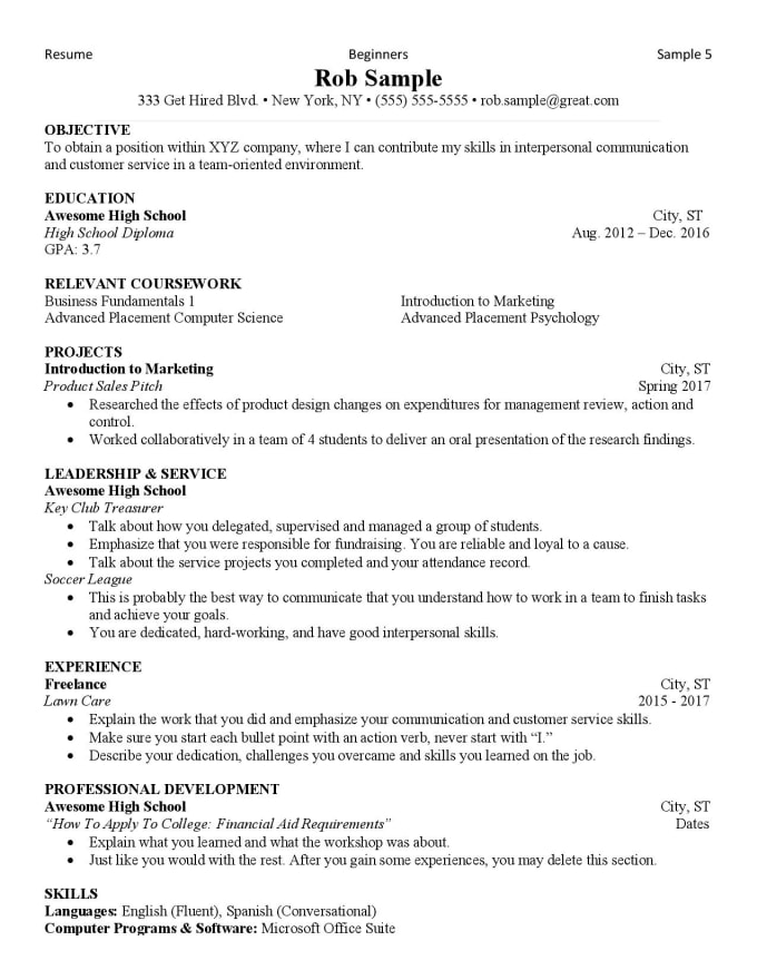 edit your job  college or grad school resume by daponteblogs