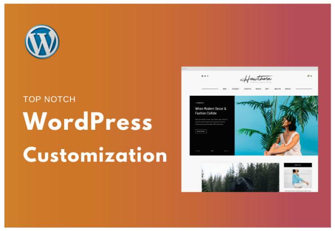 I will customize wordpress and woocommerce website