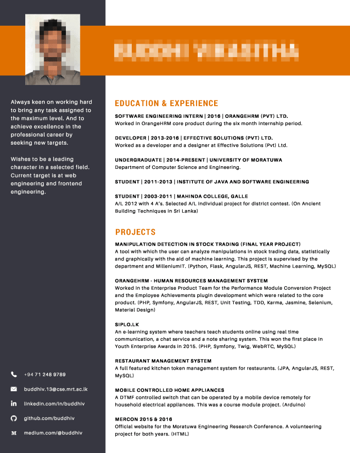 Create a professional cv for you using canva by Buddhiv
