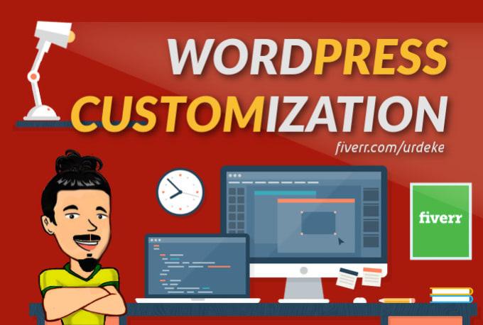 I will customize your wordpress website