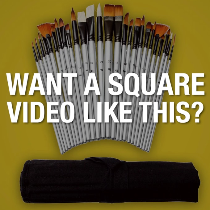 create you an awesome square ecom video ad