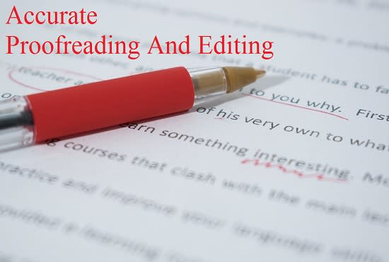 proofread and edit quickly  and professionally