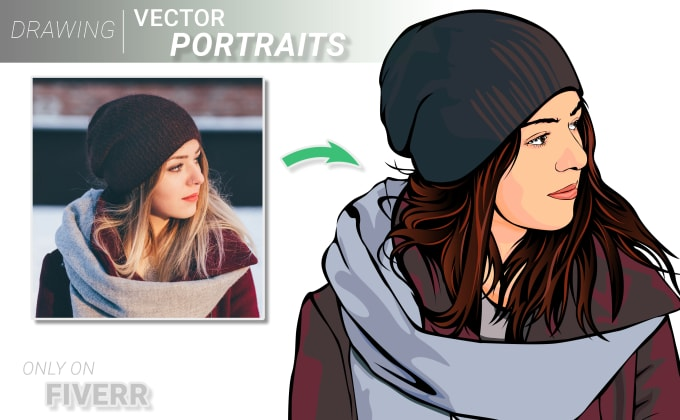 do vector portrait from your photo