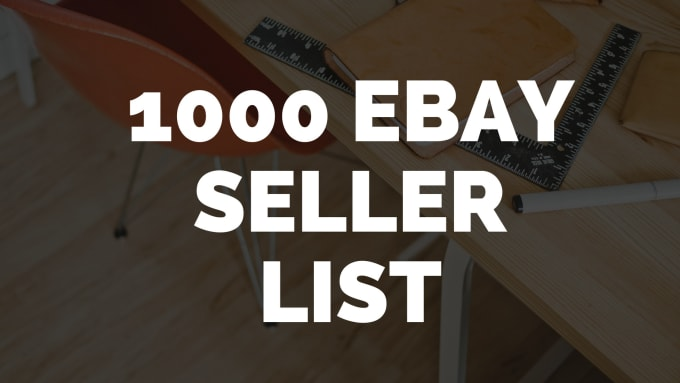 Give You List Of Top Ebay Sellers In Any Category By Hybiscayshwarya
