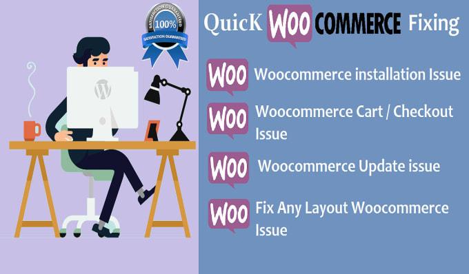 I will fix woocommerce, wordpress issue, error and CSS problem, bug
