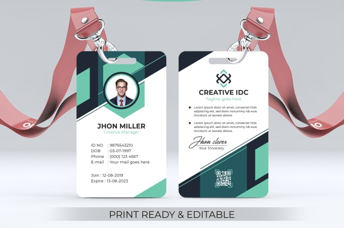 Design Professional Id Card Student Id Card Official Id