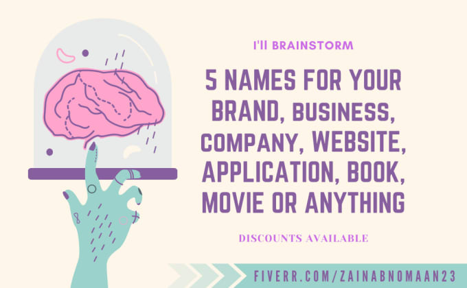 brainstorm names for business, brand or anything