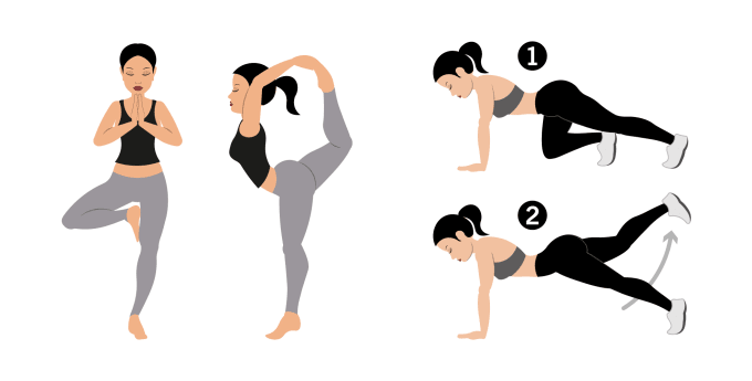 Yoga Posture Drawings