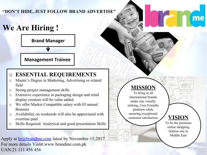 Design Job Ads As Per Need By Artimotwani
