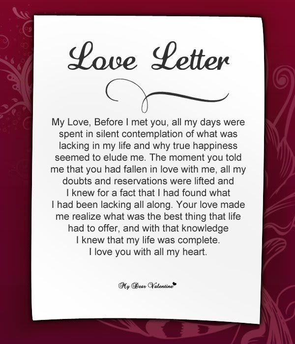 Write the best love letter for her or him by Zeemessage