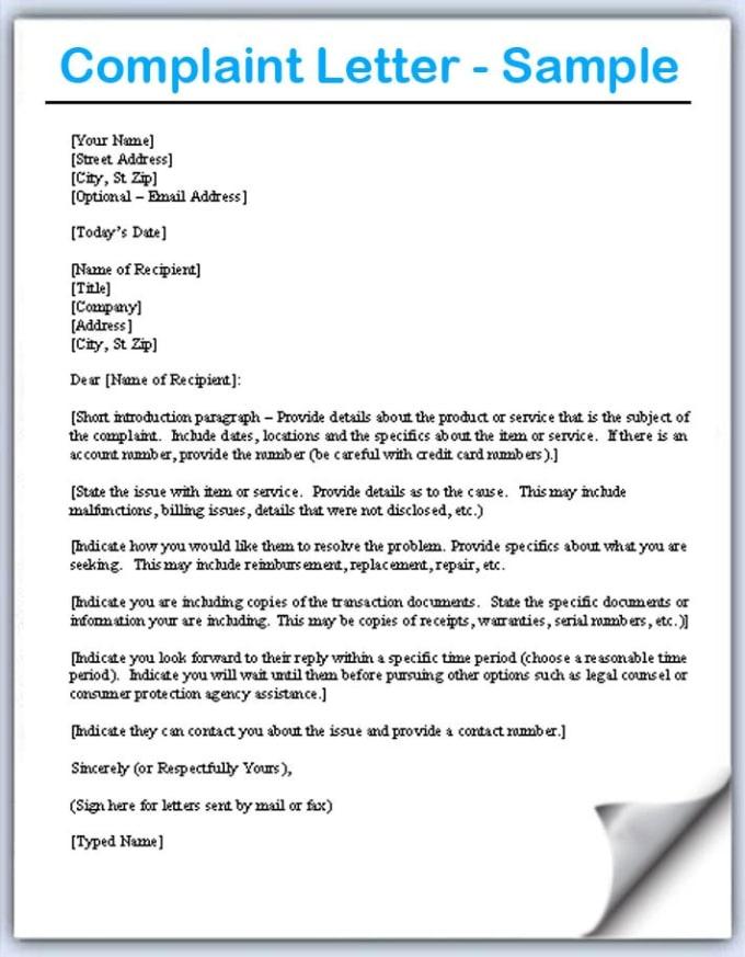 Format Letter-Letter of Complain | Bus | Logistics