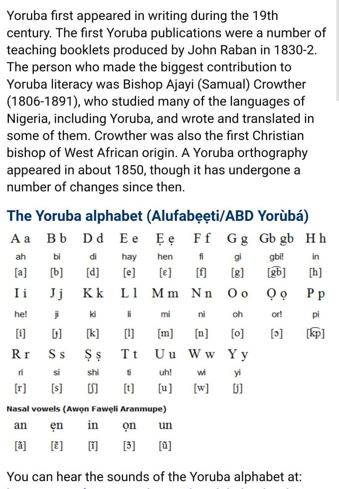 teach you yoruba language