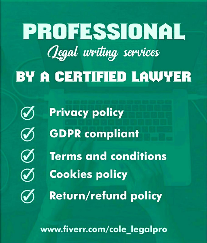 Write Compliant Terms And Conditions And Privacy Policy