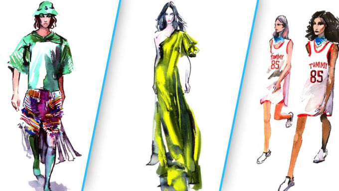 Make Illustrations And Sketches Or Fashion Designs By Aranahajartt