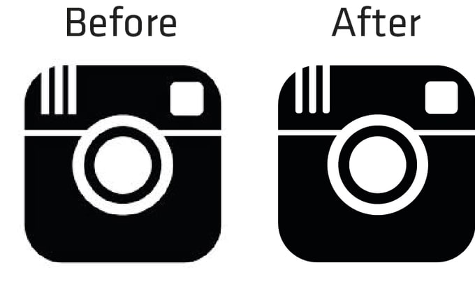 Make your blurry graphic or logo clear into a vector by